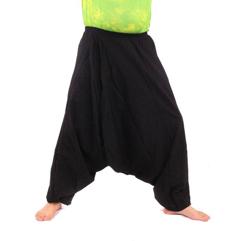 Aladdin pants cotton black