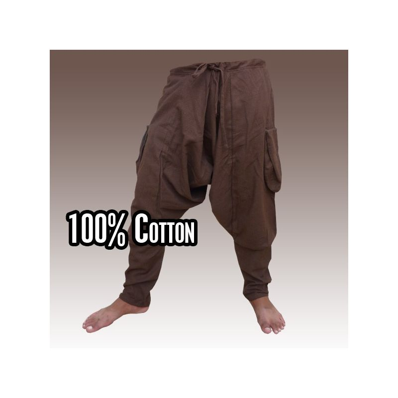 Harem pants - cotton - brown