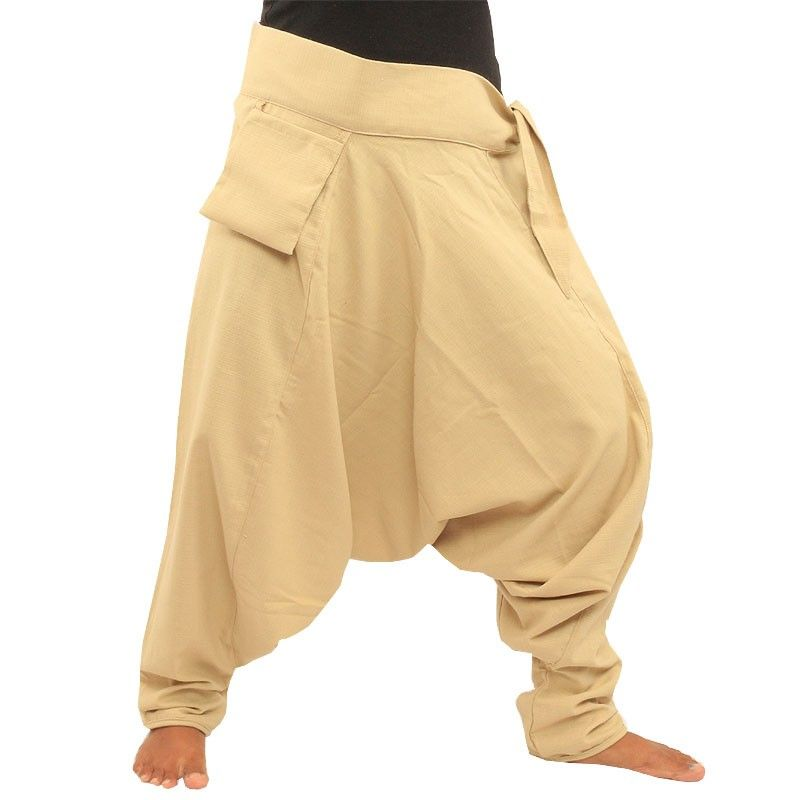 Aladdin pants - with small side pocket to attach creme