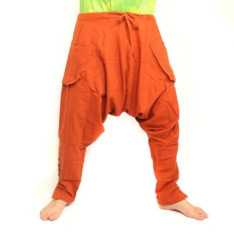 Harem pants - cotton - orange