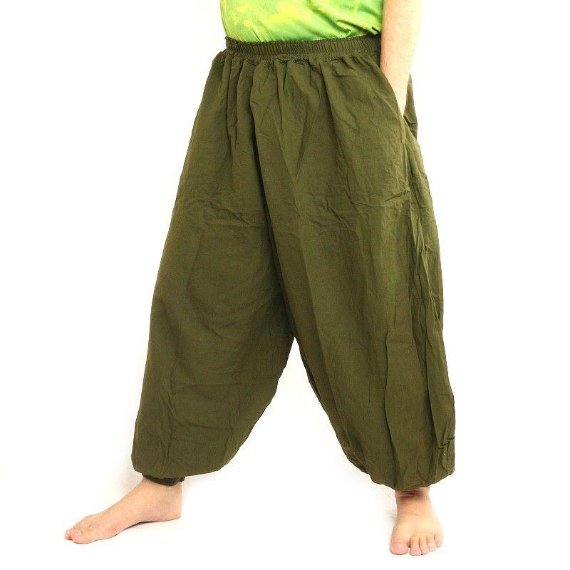Harem pantalón olive green algodón
