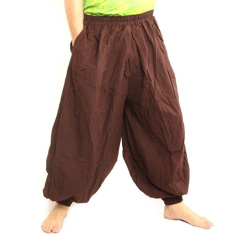 Harem pants cotton brown