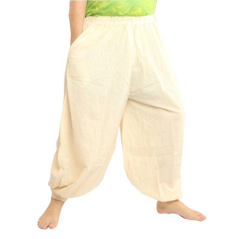 Harem pants cotton uncoloured