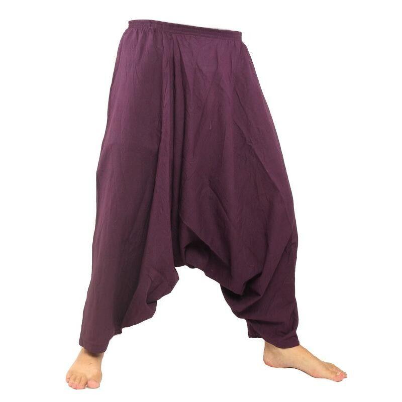 Aladdin pants cotton - purple