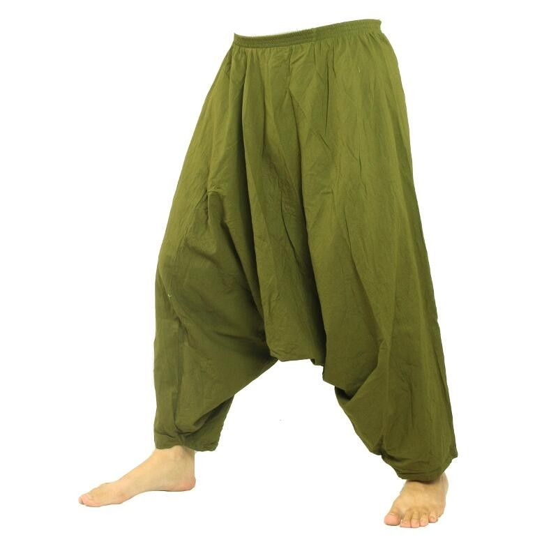 Aladdin pants cotton green