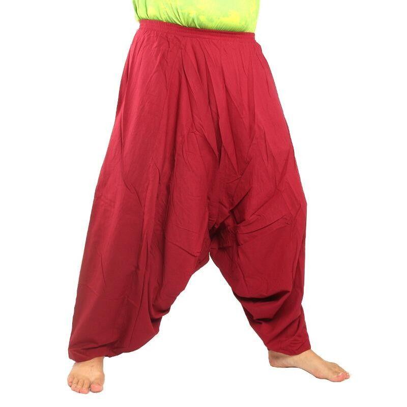 Aladdin pants cotton red