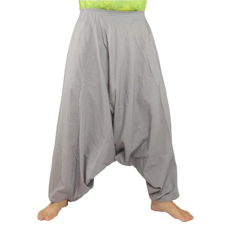 Aladdin pants cotton gray