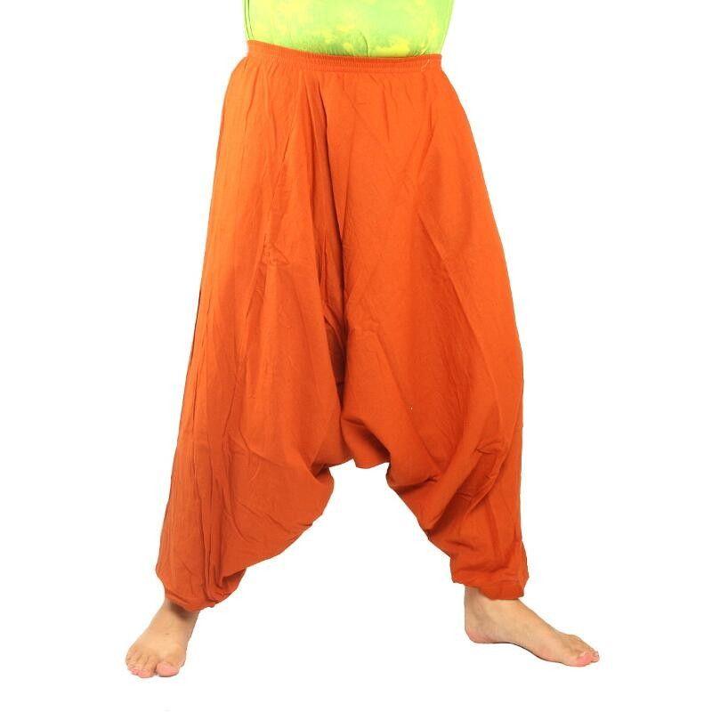 Aladdin pants cotton orange