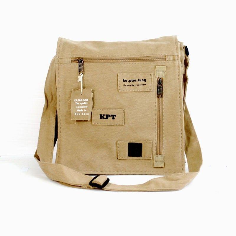 Ka Pao Tung large shoulder bag - khaki