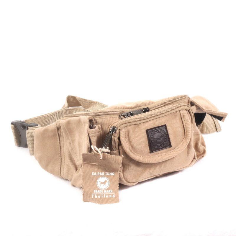Ka Pao Tung Hit Bag - Funda para cinturón - Beige, marrón claro, caqui