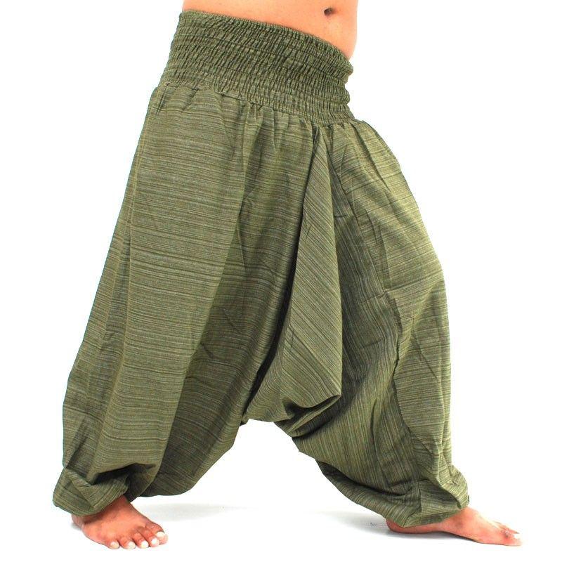 Aladdin Pants Harem pants Cotton - green