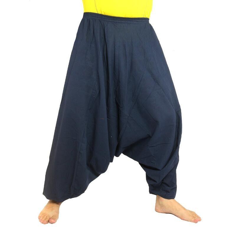 Aladdin pants cotton dark blue