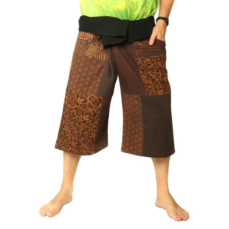 Thai Fisherman Patchwork Short brun
