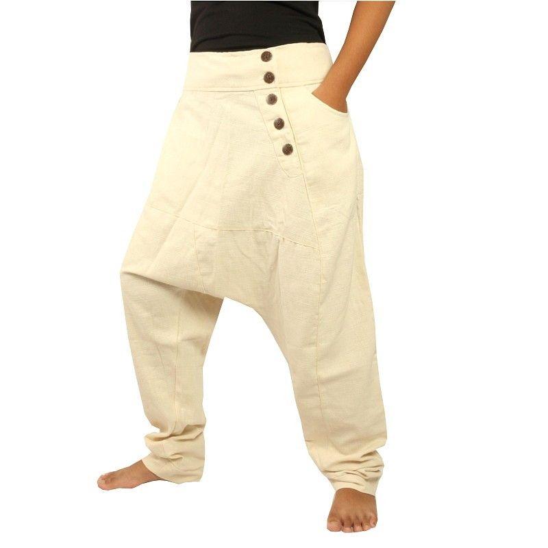 Harem pants cotton khaki