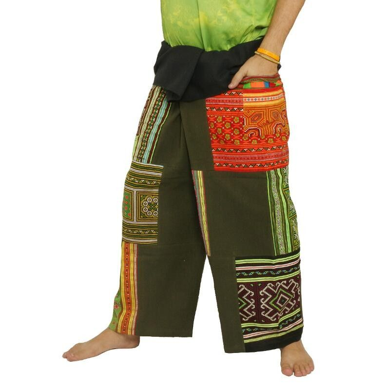 Patchwork Thai Fisherman pants from Chiang Mai, heavy cotton
