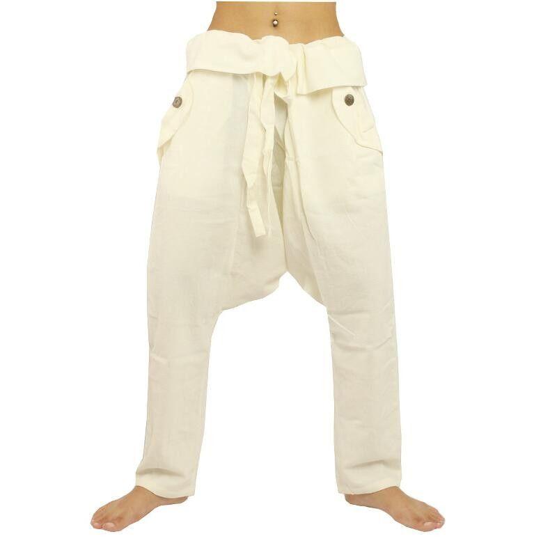 Pants - cotton - white