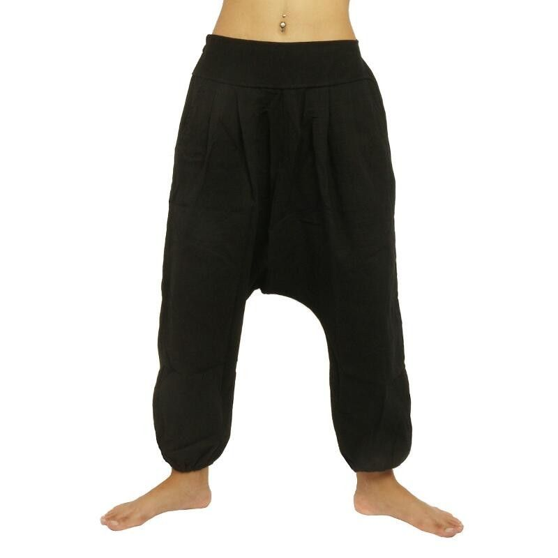 Harem pants - cotton - black