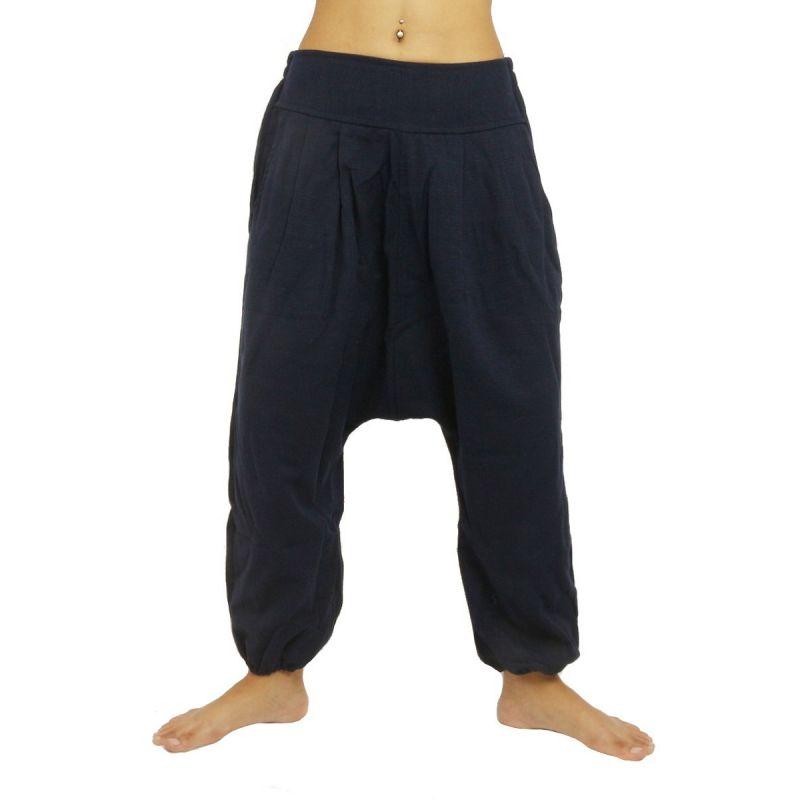 Harem pants - cotton - dark blue