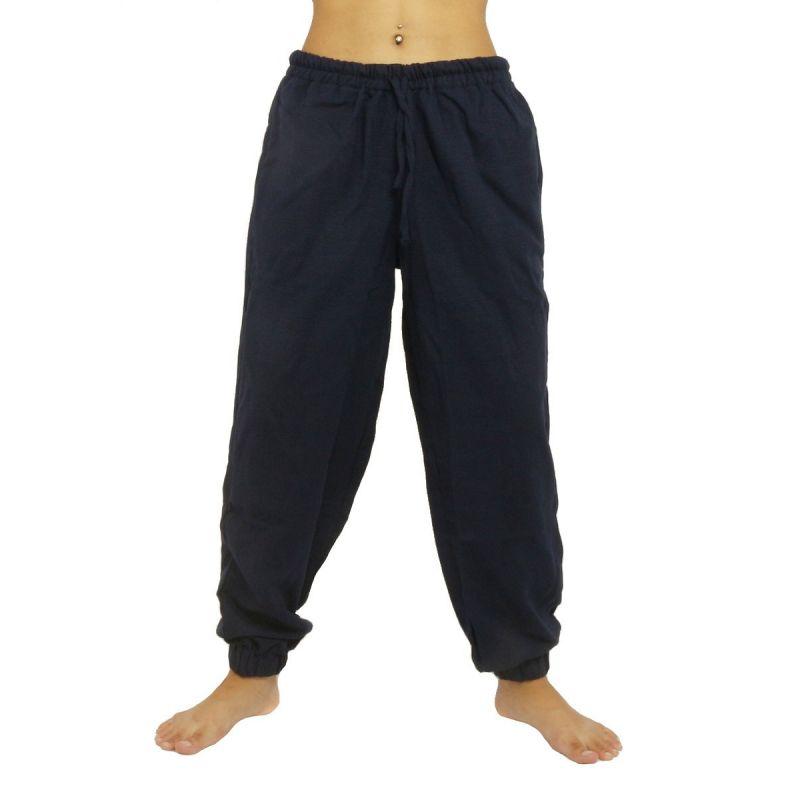 High waist chill pants - cotton - dark blue