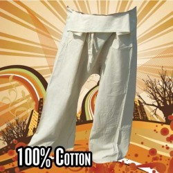 Thai Fisherman Pants - Undyed - Cotton
