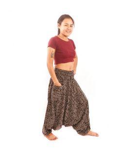 Pantalon thaïlandais Aladdin à motif aztèque