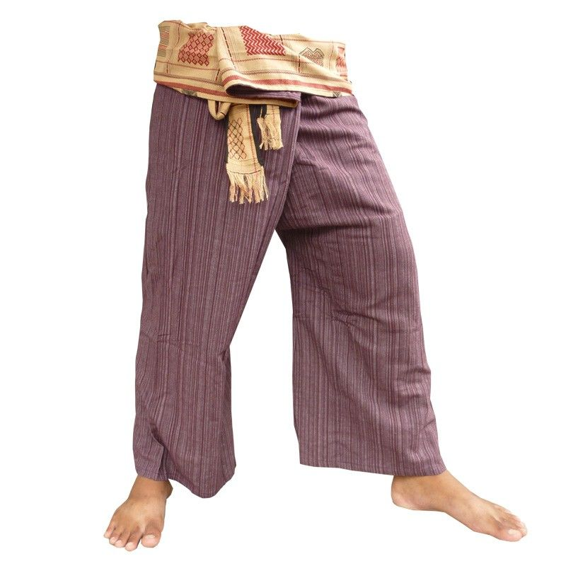 Thai Fisherman pants cotton blend with woven edging
