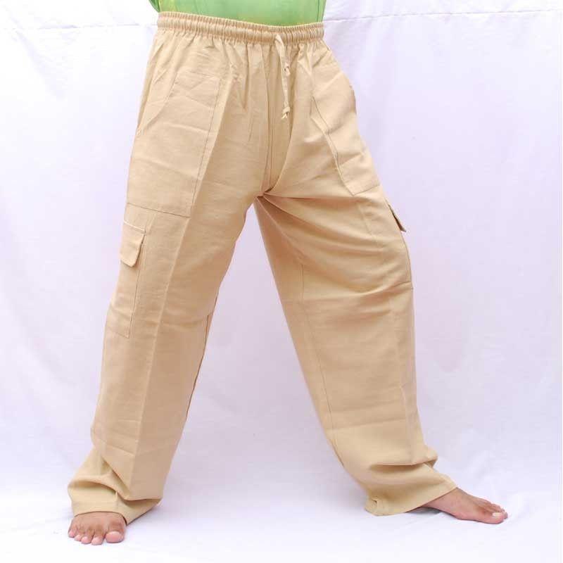 pantalon de loisirs Gang Ghaeng Thiao coton - Couleur coton naturel