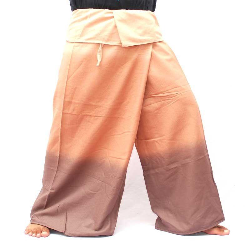 Thai Thai Fisherman Pants - shades of brown