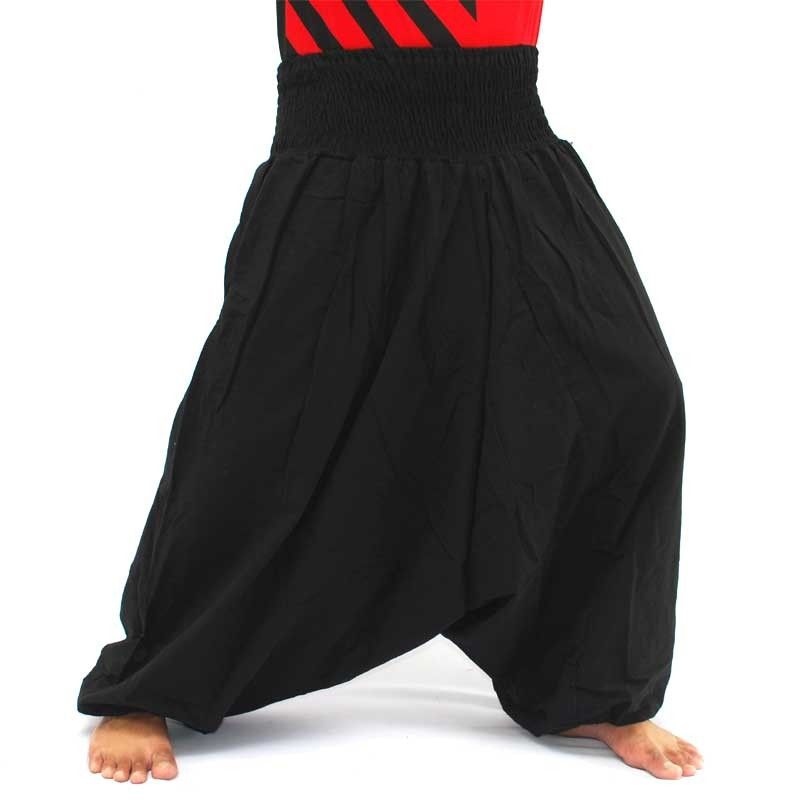Aladdin pants cotton black