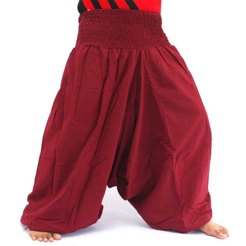 Aladdin pants yoga cotton burgundy